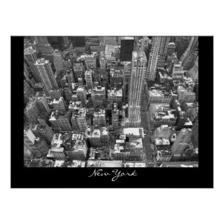 New York Poster Cityscape New York Empire Print
