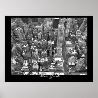 New York Poster Cityscape New York Empire Print