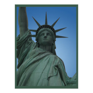 New York Poster Statue of Liberty New York Print