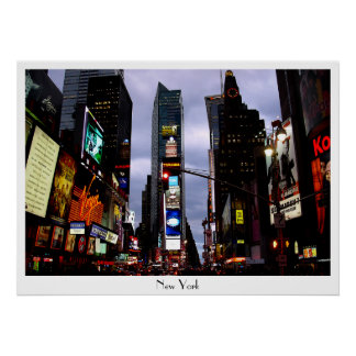 New York Poster Times Square Night NYC Souven