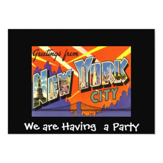 New York Private Party Invitation