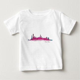 New York Purple Skyline Baby T-Shirt
