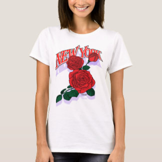 New York red rose shirt F/B