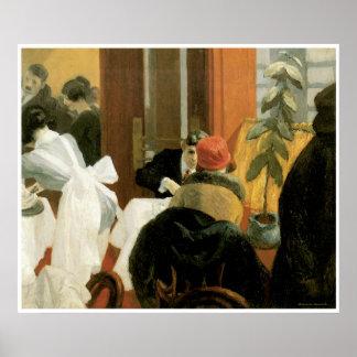 New York Restaurant c. 1922, Edward Hopper Poster