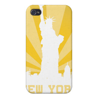 new york retro 4 4s  covers for iPhone 4