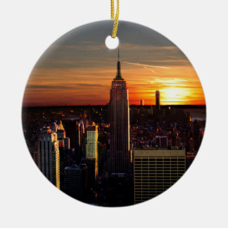 New York Round Ceramic Ornament
