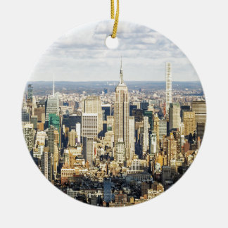 New York Round Ceramic Ornament