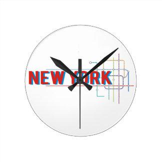 New York Round Clock