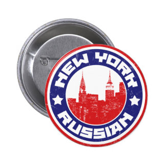 New York Russian American 2 Inch Round Button