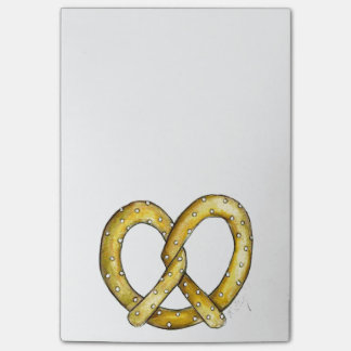 New York Salty Soft Pretzel Post It Notes