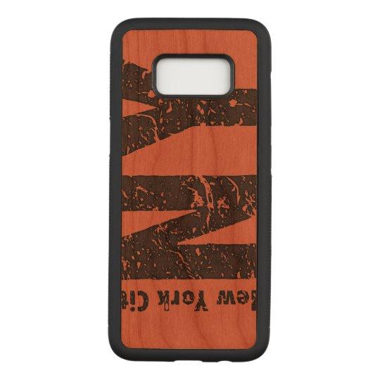 New York Samsung Galaxy S8 Slim Cherry Wood Case