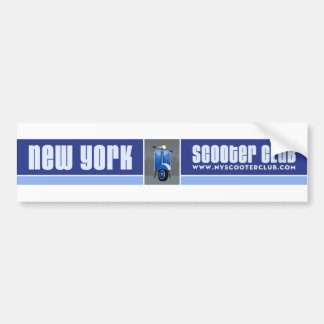 New York Scooter Club Bumper Sticker