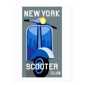 New York Scooter Club Postcard