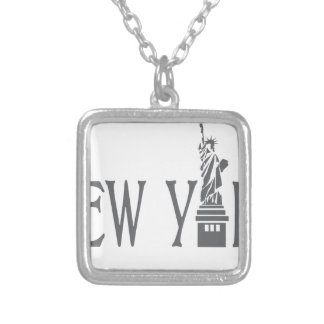 New York Silver Plated Necklace