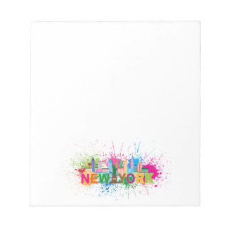 New York Skyline Abstract Color Illustration Notepads