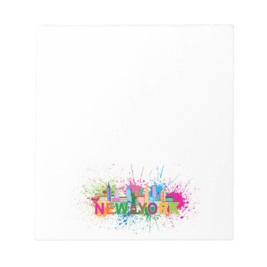 New York Skyline Abstract Colour Illustration Notepad