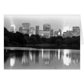 New York Skyline at Night Card
