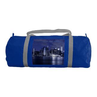 New York Skyline Bathed in Blue