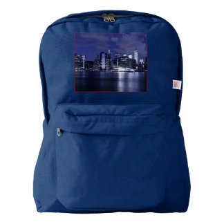New York Skyline Bathed in Blue Backpack