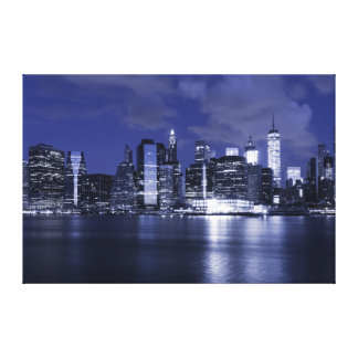 New York Skyline Bathed in Blue Canvas Print