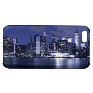 New York Skyline Bathed in Blue Case For iPhone 5C