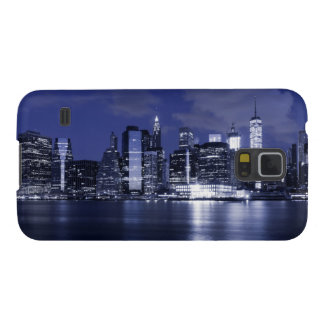 New York Skyline Bathed in Blue Galaxy S5 Cover