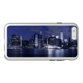 New York Skyline Bathed in Blue Incipio Feather® Shine iPhone 6 Case