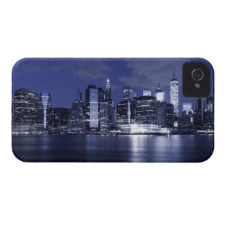 New York Skyline Bathed in Blue iPhone 4 Case