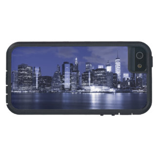 New York Skyline Bathed in Blue iPhone 5 Cases