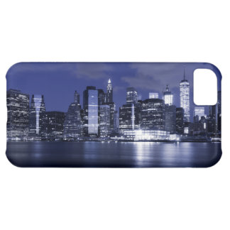 New York Skyline Bathed in Blue iPhone 5C Covers
