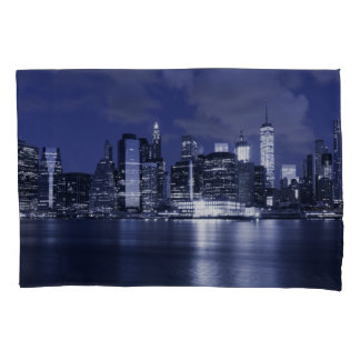 New York Skyline Bathed in Blue Pillowcase