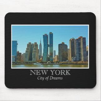 New York Skyline Black White Frame Photo Mouse Pad