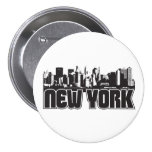 New York Skyline Buttons