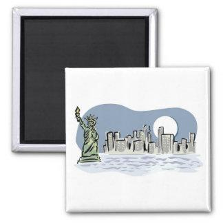 New York Skyline by Moonlight Magnet