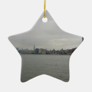New York Skyline Ceramic Star Ornament