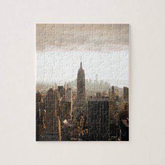 New York Skyline - dusk - grey Jigsaw Puzzle