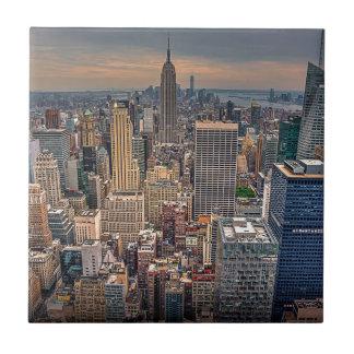 New York Skyline from Rockefeller Center Tile