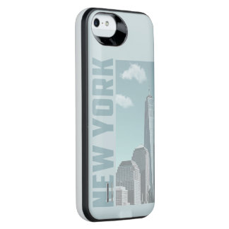 New York Skyline iPhone SE/5/5s Battery Case