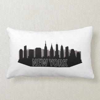 new york skyline lumbar pillow