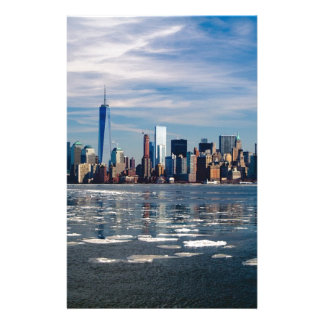 New York Skyline New York City City Manhattan Stationery
