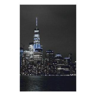New York Skyline New York City New York Skyline Stationery