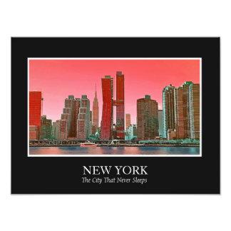 New York Skyline Photograph Frame Personalize