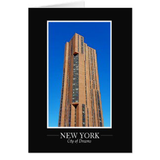 New York Skyline Photograph Frame Personalize Card