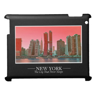 New York Skyline Photograph Frame Personalize iPad Cover