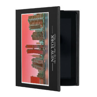 New York Skyline Photograph Frame Personalize iPad Folio Case
