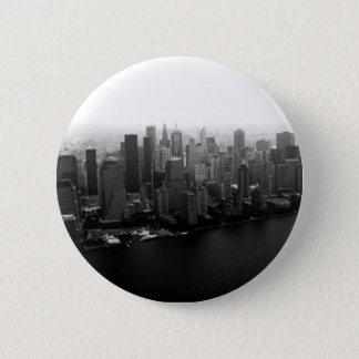 New York Skyline Pinback Button