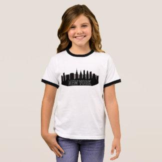 new york skyline ringer T-Shirt
