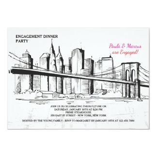 New York Skyline Sketchy Invitation