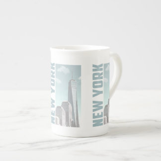 New York Skyline Tea Cup