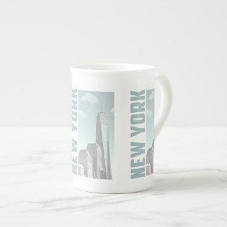 New York Skyline Tea Cup